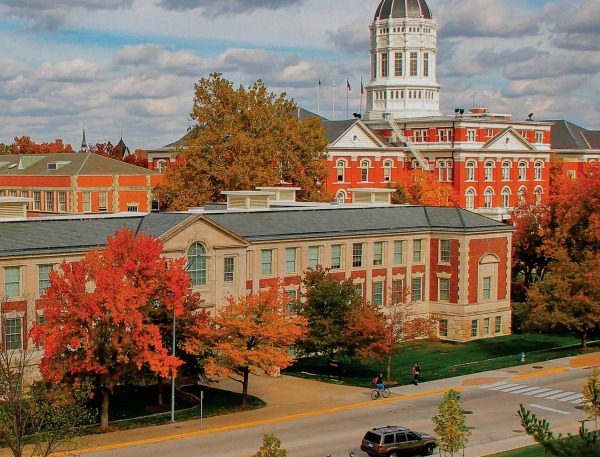 Buildings on Mizzou's campus.