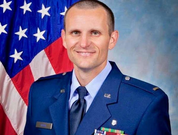 John Rossi wearing his USAF uniform.