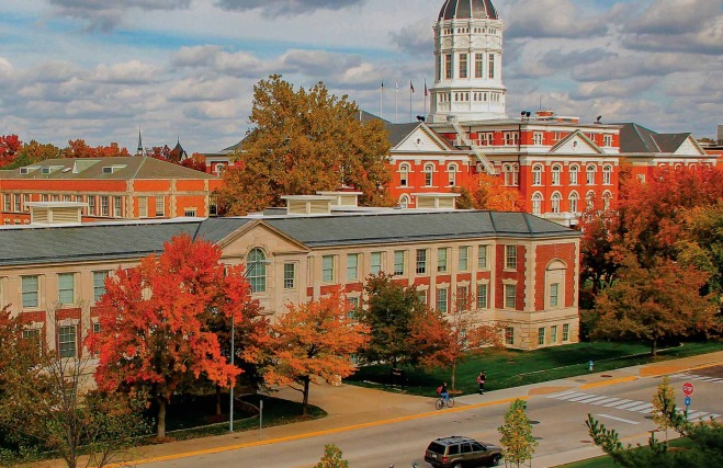 Buildings on Mizzou's campus.