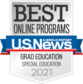 Best Online Programs U.S. News and World Report Grad Special Education 2021 Badge.